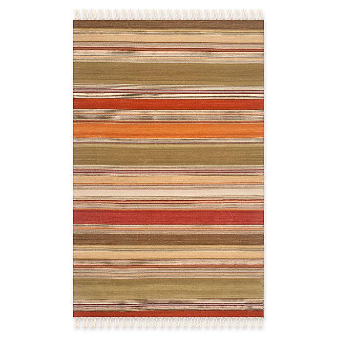 Alternate image 1 for Safavieh Striped Kilim 5' x 8' Molly Rug in Green