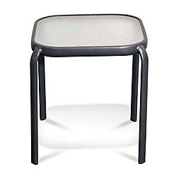 Never Rust Aluminum Outdoor End Table in White