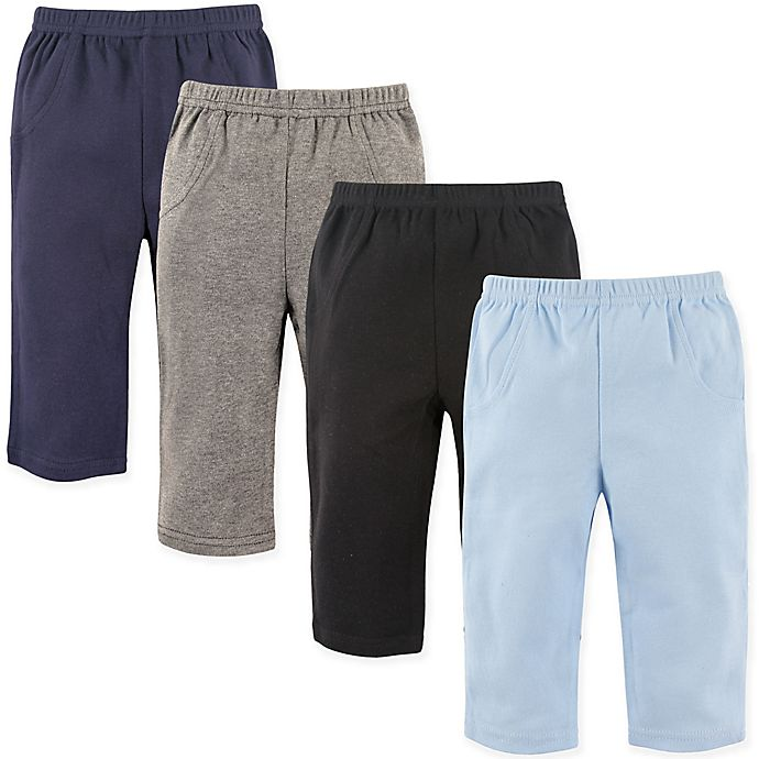 Alternate image 1 for Luvable Friends® Size 18-24M 4-Pack Solid Pants