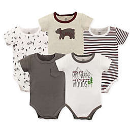 Yoga Sprout 5-Pack Mountains and Woods Bodysuits in Red