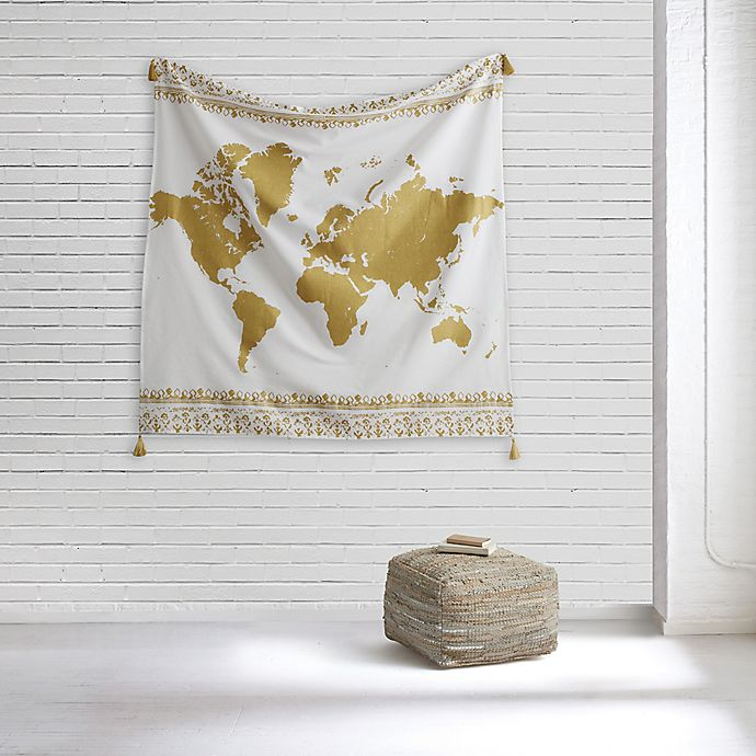 Alternate image 1 for Style Co-op® World Map Tapestry