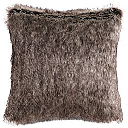 Charisma Rhythm Faux Fur Throw Pillow in Brown