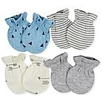 Gerber® 4-Pack Hedgehog Mittens in Grey/Blue