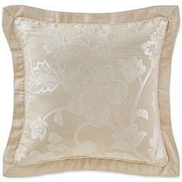 Marquis® by Waterford Emilia Square Throw Pillow in Cream
