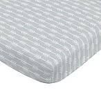 NoJo® Aztec Mix & Match Arrow Print Fitted Crib Sheet in Grey