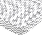 NoJo® Aztec Mix & Match Chevron Print Fitted Crib Sheet in Grey