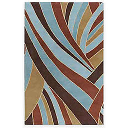 Surya Passaic Expressions Sky Wool Rectangle Rugs in Sky Blue
