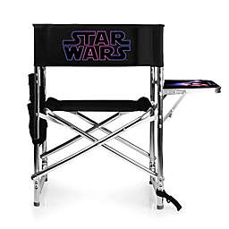 Picnic Time Star Wars Logo Sports Chair in Black