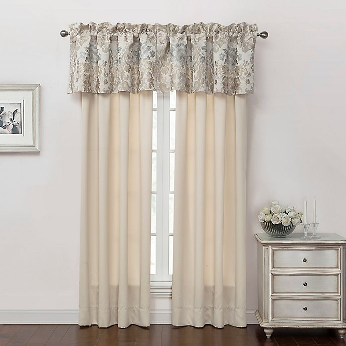 Alternate image 1 for Marquis® by Waterford Warren 84-Inch Rod Pocket Window Curtain Panel Pair in Cream