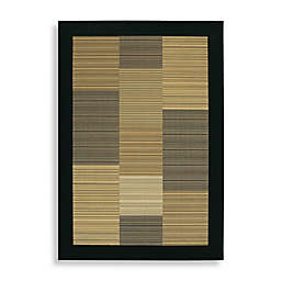 Couristan® Everest Collection Hamptons Multi Rectangle Rugs in Black