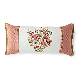Rose Tree Lorraine Embroidered Oblong Throw Pillow