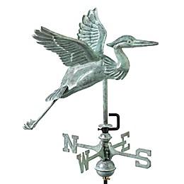 Good Directions Blue Heron Cottage Weathervane in Blue Verde Copper