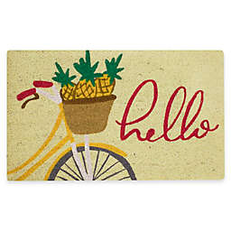 "Mohawk Home® 18"" x 30"" Pineapple Bike Coir Multicolor Door Mat"