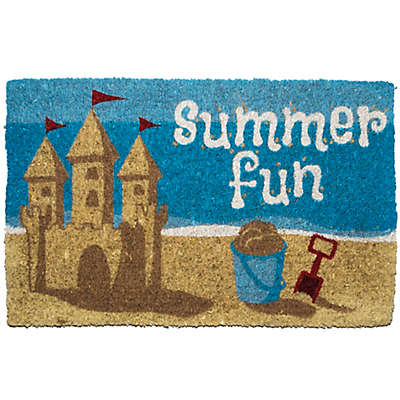 "Entryways Summer Fun 18"" x 30"" Coir Multicolor Door Mat"