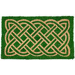 """Entryways Celtic Heritage 18"""" x 30"""" Coir Door Mat in Green"""