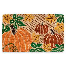 """Entryways Pumpkin Patch 18"""" x 30"""" Multicolor Coir Door Mat"""