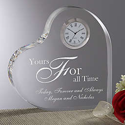 Engraved Heart Clock Collection