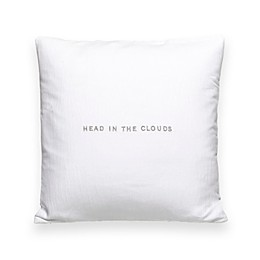 kate spade new york Words of Wisdom 16-Inch Square Throw Pillow in White