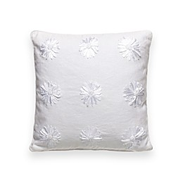 kate spade new york Ribbon Blossom 16-Inch Square Throw Pillow in White