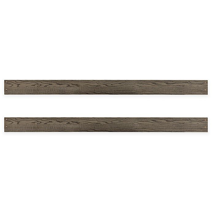 Alternate image 1 for Westwood Design Foundry Full-Size Bed Rails in Pewter (Set of 2)