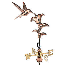 Good Directions Hummingbird Cottage Weathervane in Polished Copper