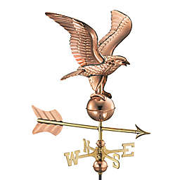 Good Directions Eagle Cottage Weathervane with Roof Mount in Polished Copper