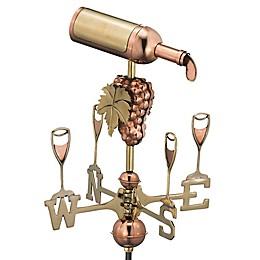 Good Directions Wine Bottle Cottage Weathervane