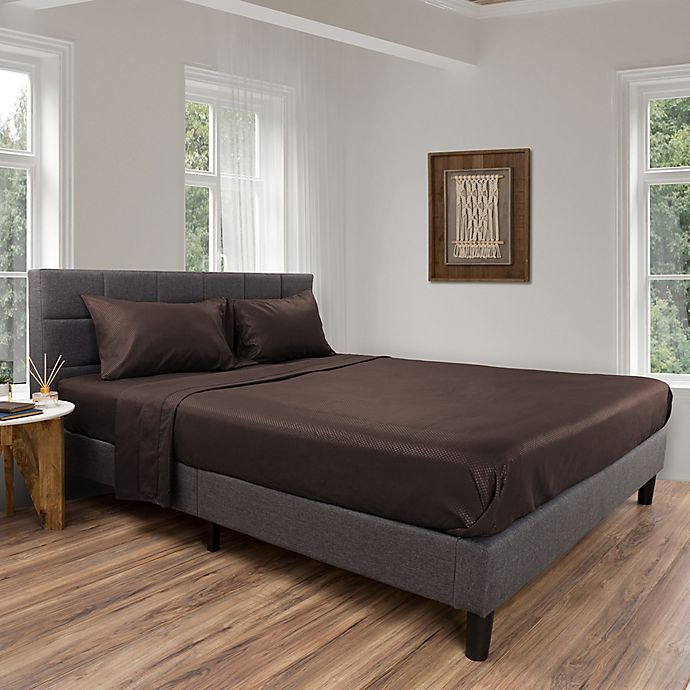 Alternate image 1 for Nottingham Home Brushed Microfiber Queen Sheet Set in Chocolate