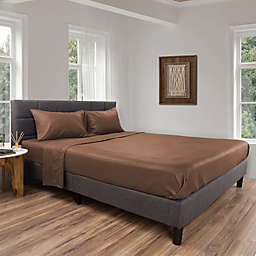 Nottingham Home Brushed Microfiber Twin XL Sheet Set in Taupe