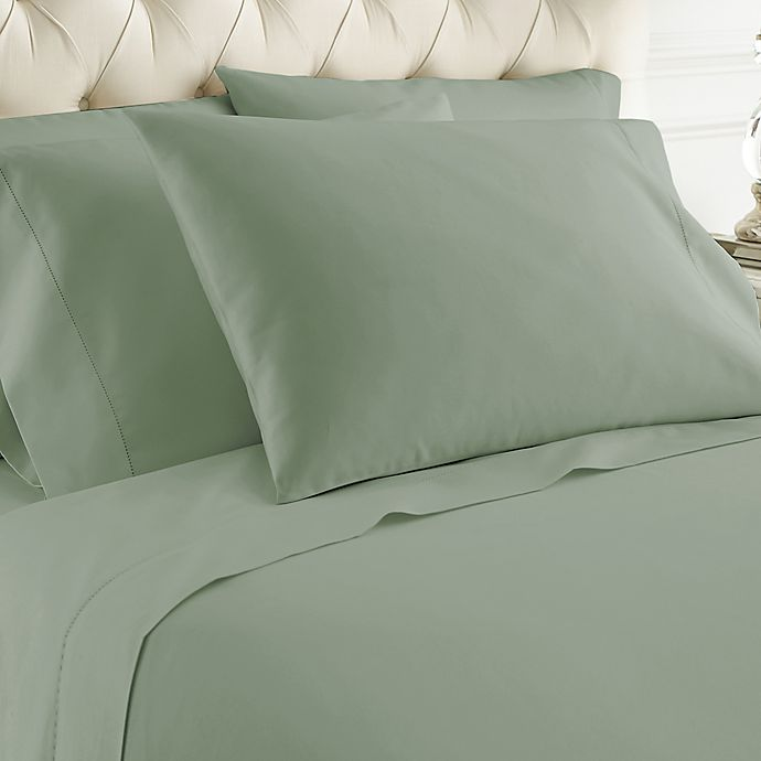 Alternate image 1 for Italian Hotel Collection 1000-Thread-Count King Sheet Set in Silver/Sage
