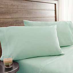 200-Thread-Count Prewashed Cotton Percale King Sheet Set in Green