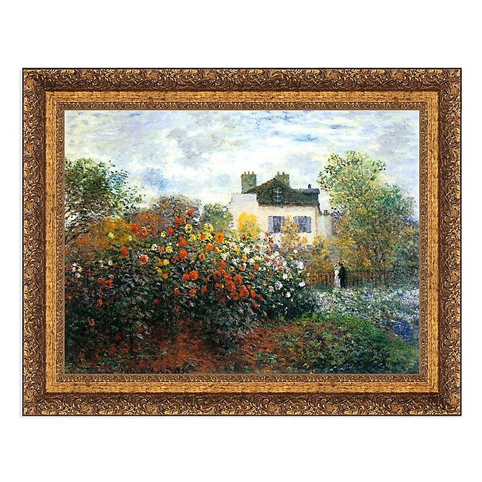 Alternate image 1 for Garden at Argenteuil-The Dahlias 37-Inch x 29-Inch Framed Canvas Replica Wall Art