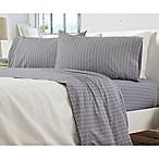 Great Bay Home Carmen Jersey Queen Sheet Set in Chevron Grey