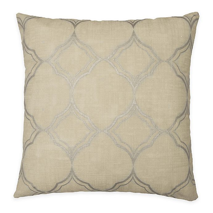 Alternate image 1 for Beautyrest® Pemberly 16-Inch Square Throw Pillow in Beige