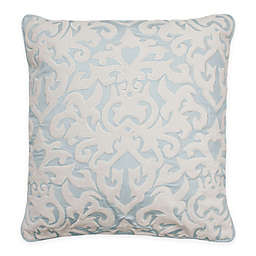 Beautyrest® Arlee Velvet Applique Square Throw Pillow in Spa