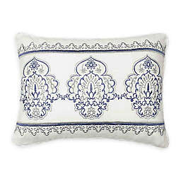 Beautyrest® Indochine Embroidered Throw Pillow in Blue