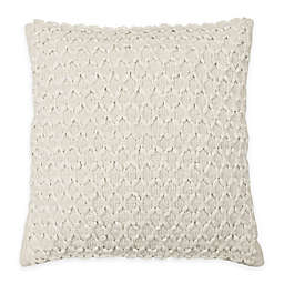 Beautyrest® Laurel Woven Square Throw Pillow in Ivory