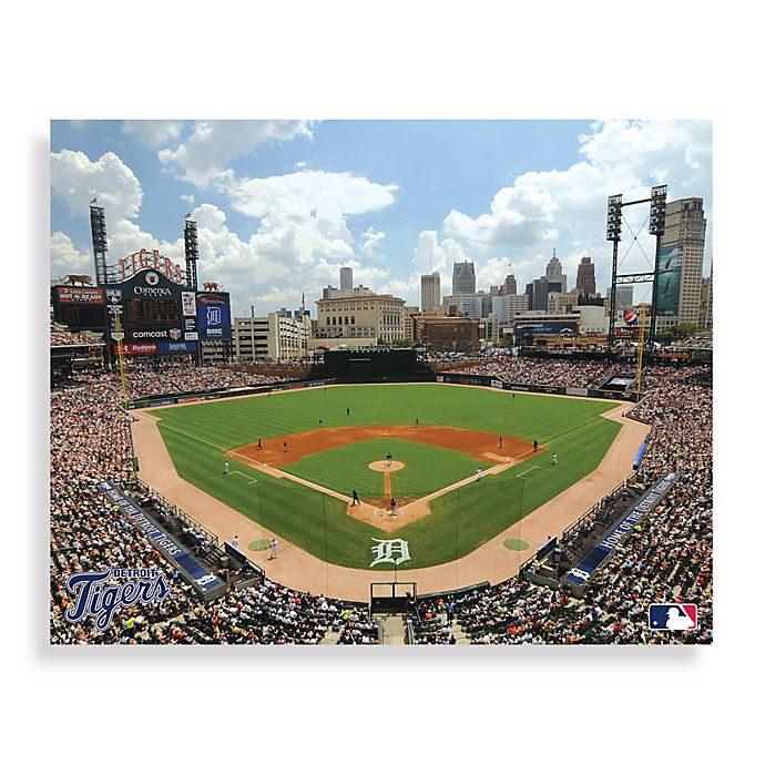Comerica Park Detroit Michigan: Buy MLB Detroit Tigers Comerica Park Canvas Wall Art From