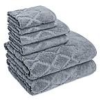 American Dawn Inc. Hart Diamond 6-Piece Towel Set in Grey Flannel