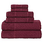 Me Tei Jacquard 6-Piece Towel Set in Wine
