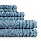American Dawn Inc. Prescott 6-Piece Towel Set in Citadel Blue
