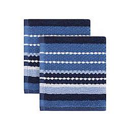 KitchenSmart® Colors Multi Stripe 2-Pack Dish Cloths
