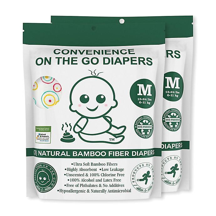 Alternate image 1 for Convenience On The Go 3-Pack Diapers
