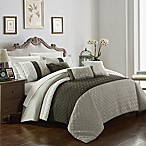 Chic Home Shai 10-Piece Queen Comforter Set in Brown