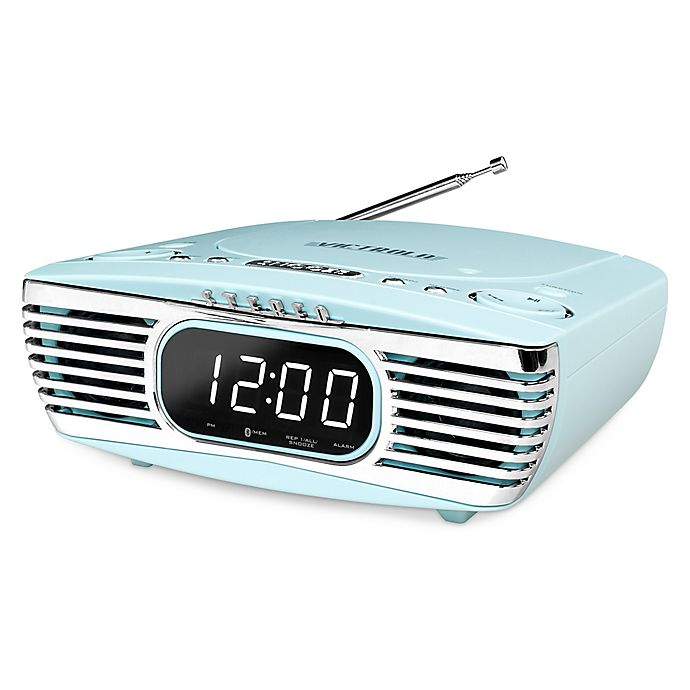 Alternate image 1 for Victrola™ Bluetooth® Bedside Stereo with CD Player in Turquoise
