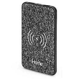 iHome® 5K mAh Qi Wireless Fabric Power Bank