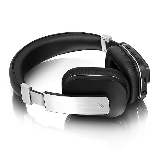 Alternate image 1 for Aluratek Bluetooth® Wireless Over-the-Ear Stereo Headphones in Black/Silver