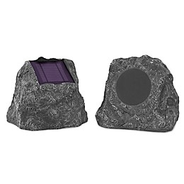 Innovative Technology™ Solar Charging Bluetooth® Outdoor Rock Speakers (Set of 2)
