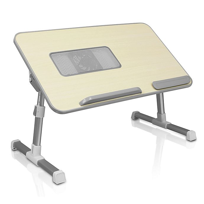 Alternate image 1 for Aluratek Adjustable Ergonomic Laptop Cooling Table with Fan
