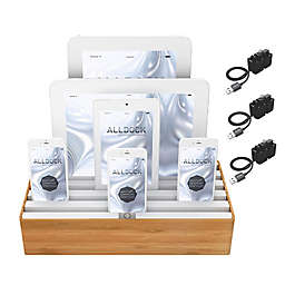Alldock Combo Large Charging Station in Tan/White with 3 MFI Cables